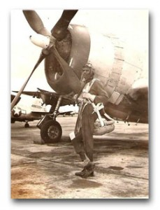 Col Harvey with his P-47 Thunderbolt