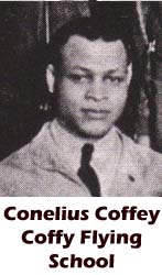 Conelius Coffey, Coffy Flying School
