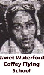 Janet Waterford, Coffey Flying School, African-American history, military history, aviation history