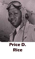 Price D. Rice, Tuskegee Airmen, African-American history, military history, aviation history