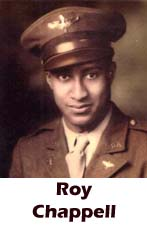 Roy Chappell, Tuskegee, African-American history, military history, aviation history